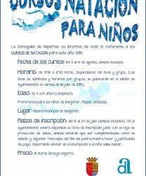 Cursos de natación 2015 para niños.