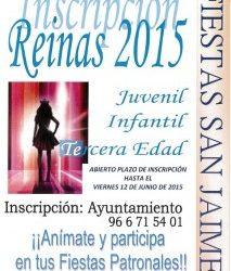 INSCRIPCIÓN REINAS 2015